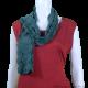 Green Cotton Crochet Scarf/Stole