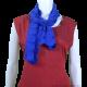 Crochet Blue Cotton Scarf/Stole